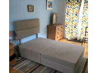 Small Double Furniture Village Bed with Mattress Myers Indulge Comfort 1000 Divan + Storage Draws