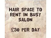 Hairdressing Space Available