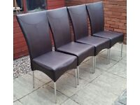 4 leather dining chairs. good quality chairs. In excellent condition.