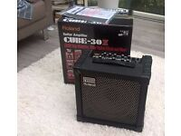 Roland Cube 30X Guitar amplifier; light use. Includes original box and manual.