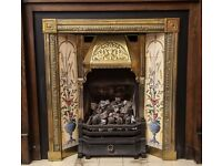 Antique Victorian Cast Brass Fireplace