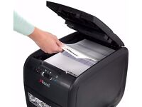 Nearly NEW REXEL Auto+60X Automatic Paper/Credit Card Shredder (Confetti Cut) RRP £153.33 Box & Inst