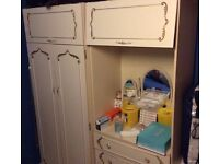 Ornate double wardrobe - free to collector