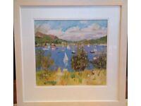 Large framed print: 'Tayvallich' by John Cunningham