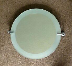 Bathroom Tilting Round Bathroom Mirror with fixings