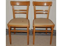 PAIR MID-CENTURY BENT WOOD ARTEX HUNGARY CHAIRS VINTAGE CHAIR 1960's KITCHEN