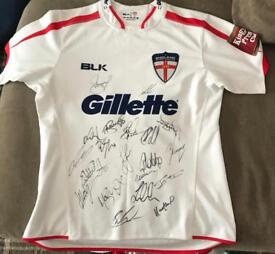 Full signed England rugby shirt from 2015