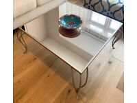 Beautiful and Stylish Metal Coffee table with Mirror top