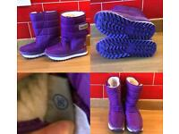Sakura Purple Winter Boots Size UK 3 / EU 36