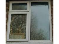 Pvc window, white, used, double glazed