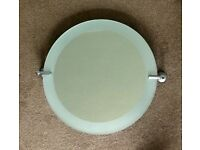 "Very Good Quality Bathroom Tilting Round Bathroom Mirror with fixings Diameter 18"" (46cm) D3.5""/9cm"
