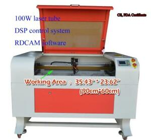100W 900* 600mm Co2 USB Laser Engraver Cutter Machine with stand 130067