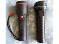 Two Old Torches Halfords and EverReady including batteries