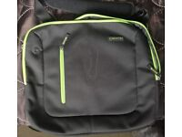 "Laptop Black / Green Trust Bag 15.6"" used"