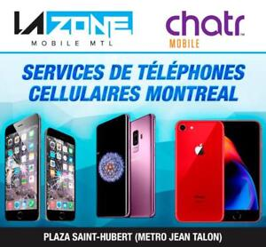 Centre Reparation Telephones Cellulaires Montreal / iPhone-Samsung-LG