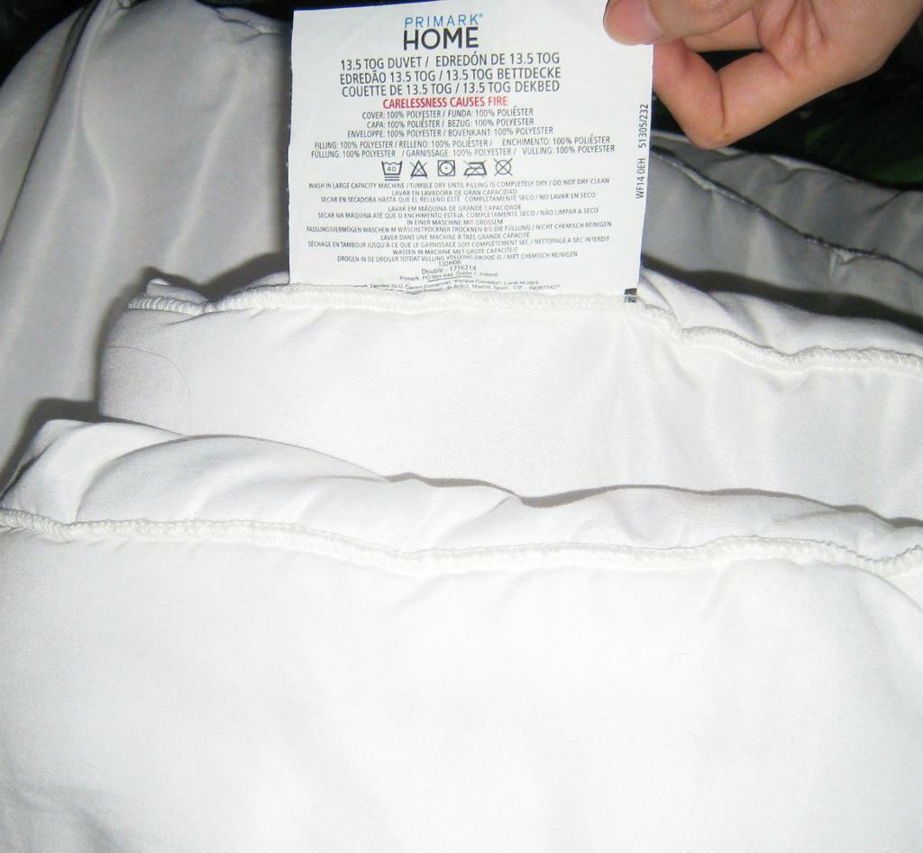 Primark Home White Soft Touch Double Duvet 13 5 Tog New