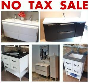NO TAX @ EVON Bathroom Gallery >> NO TAX SALE !! >> Vanities, bathtubs, showers, toilets, sinks, faucets and more..
