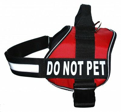 Service Dog Vest Harness with Removable velcro Patches and reflective trim,