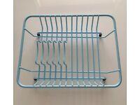 BRAND NEW Delfinware Dish Rack / Drainer Retro Powder Blue Compact