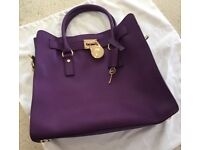Michael Kors Purple Tote Bag