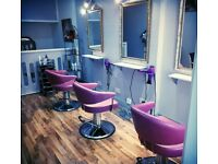 Chair to rent to hair stylist in independent hair salon.