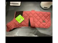 Brand new large dog coat - red - fleece lined