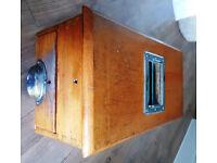 Antique Vintage Wooden Till Cash Register with Working Bell