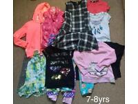 Girl's clothes bundle 6-7 yrs+7-8 yrs (28items)