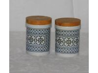 Hornsea Pottery Tapestry Salt and Pepper