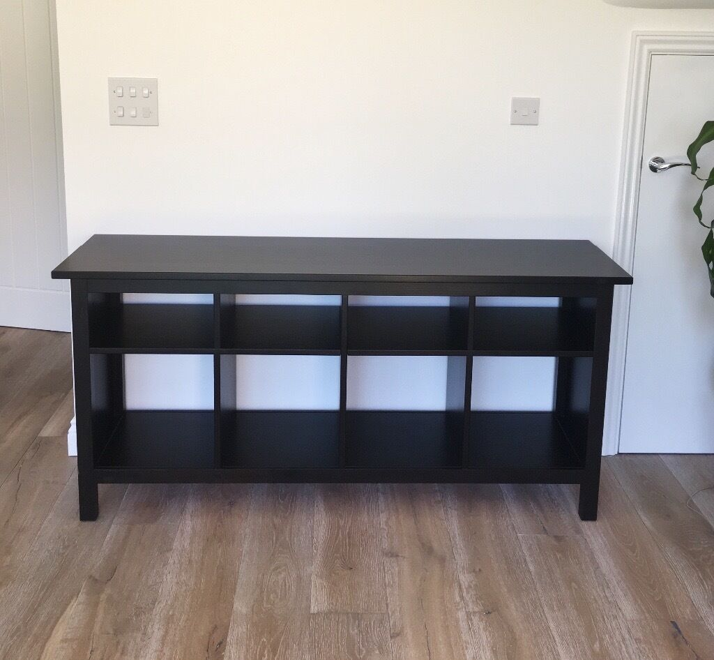 IKEA HEMNES Console Table In Black / Brown