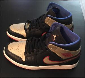 Nike Air Jordan 1 Black, Gold & Red