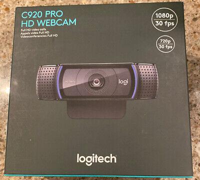 Brand New Logitech C920 HD Pro Webcam 1080p Video Calling & Recording