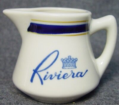 Riviera Casino Hotel Restaurant Logo Advertising China Creamer Las Vegas Nevada on Rummage