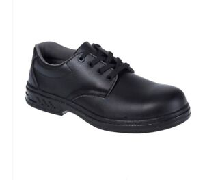 Portwest Laced Food Safety Chef's Work Shoes Kitchen Catering FW80 UK8