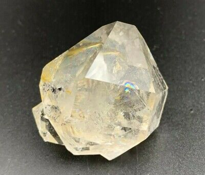 37.75 g Water Clear Herkimer Diamond Cluster, Record Keepers, Golden, Rainbows