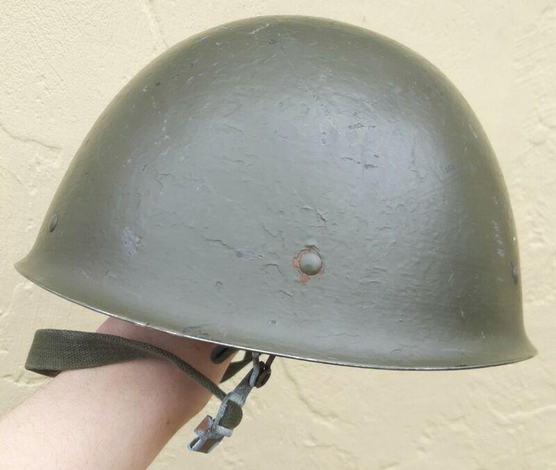 Vintage Swedish Army Military M37 Steel Helmet