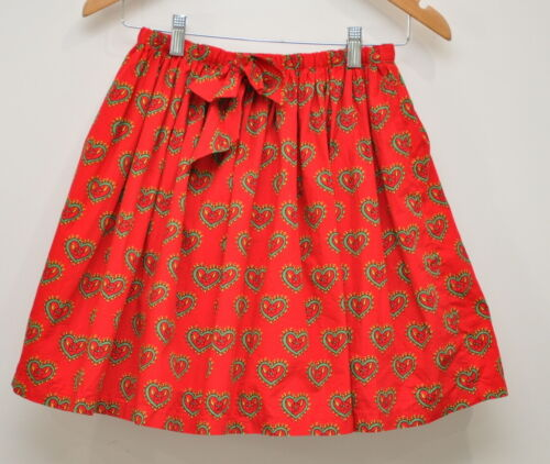 Hanna Andersson Girls Red Heart Skirt Size 150