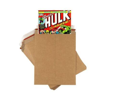 "Comic Book Shipping Mailer 25 Pack 9x11.5"" Ultra Strong Cardboard Flat Envelope"