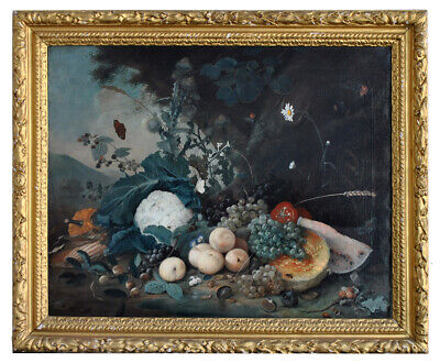 Large still life with fruit and vegetables Arthur Chaplin