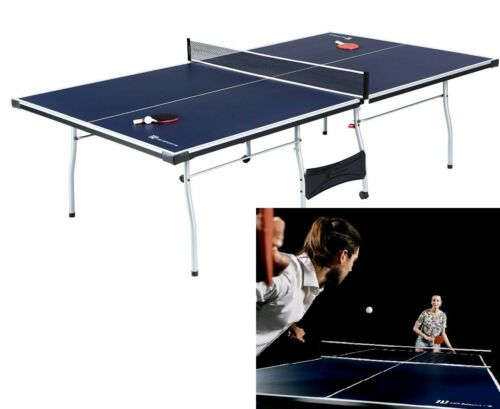 Table Tennis 4 Piece Indoor Official Size Accessories Included Blue White New