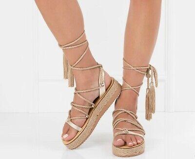 Meraki Company Sandals Gold platform leather RRP £114 You save £57 (-50%)