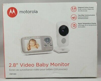 "Motorola MBP483 2.8"" Video Baby Monitor with Digital Zoom"