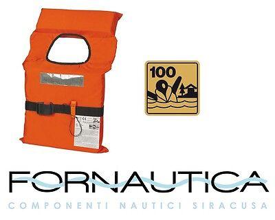 GIUBBOTTO DI SALVATAGGIO SALVAGENTE 100 N ISO 12402-4 ENTRO 6 MIGLIA OMOLOGATO -