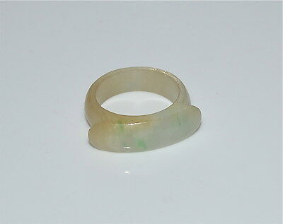 Old or Antique Chinese Jadeite Saddle Ring Size ~6.25