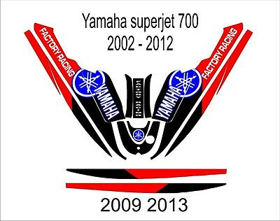 YAMAHA SUPER JET 700 jet ski wrap graphics pwc stand up jetski decal kit 11 for sale  Shipping to South Africa