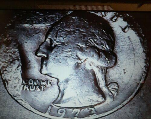 1973 P Quarter Error Die Break - $0.89