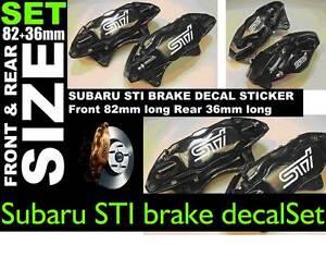 SupergraphicsF1-brake-decal-stickers-to-fit-Subaru-STI-front-rear-STI-Colour