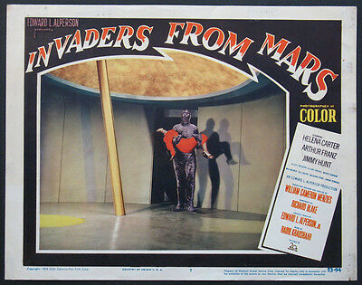 INVADERS FROM MARS ALIEN CARRYING HELENA CARTER SCIENCE FICTION 1953 LC#7