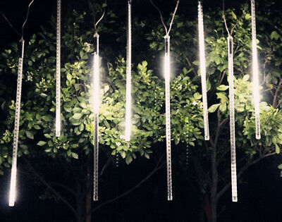 8 LED Waterproof ! Meteor Shower Rain Drop/Icicle Snow Christmas Tree Tube Light