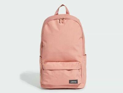adidas Classic 3-stripe Backpack Rucksack Pink Work Travel Gym School Bag ED0278